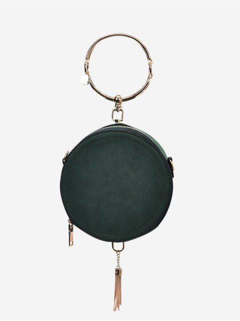 Bolso de metal con borlas en forma de anillo - Verde  Mobile