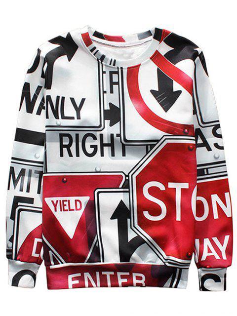 Sweat-shirt à Motif - Multicolore L Mobile