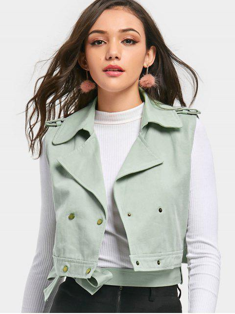 hot Double Breasted Crop Waistcoat - MINT ONE SIZE Mobile