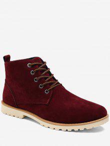 حذاء كاجوال بعكب منخفض عالي الرقبة - أحمر 42