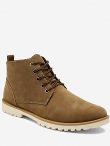حذاء كاجوال بعكب منخفض عالي الرقبة - الأصفر 43