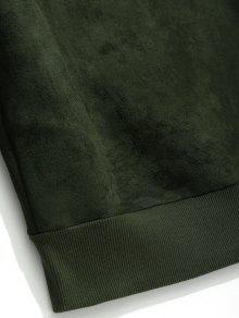 Xl Tibur De Verde De Bordada Gamuza 243;n Ejercito Sudadera zS84qfz