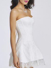 Tie Up Zipper Gothic Lace Corset Dress