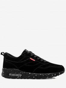 حذاء سنيكرز مريح من الجلد المدبوغ - أسود 44