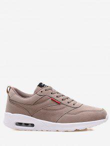 Tênis De Camurça Confortáveis Suede Sneakers - Caqui 42