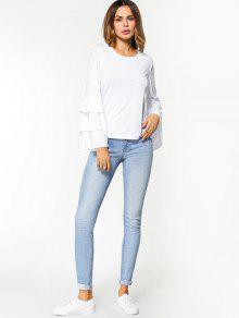 af82cbfb5eaa02 Layered Flare Sleeve Top  Layered Flare Sleeve Top ...