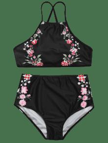 tiny hoher hochgeschlossener bikini mit hohem bund schwarz bikinis xl zaful. Black Bedroom Furniture Sets. Home Design Ideas