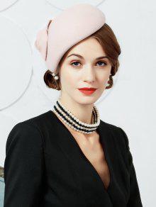 d7add6929f2 26% OFF  2019 British Style Leaf Embellished Faux Wool Pillbox Hat ...