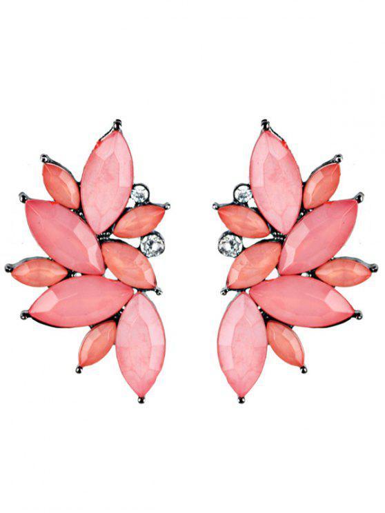 Pendientes de Diamantes de Imitación de Cristal de Estados Unidos - Rosado