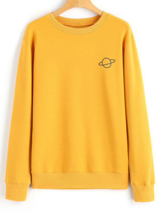 33 Off 2019 Casual Crew Neck Planet Sweatshirt In