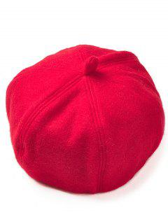 Soft Artificial Wool Beanie Beret Hat - Red