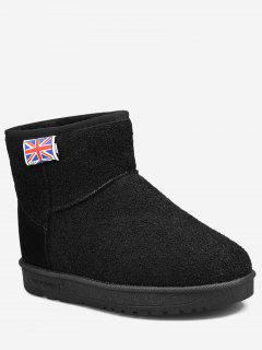 The Union Jack Slip On Snow Ankle Boots - Black 40