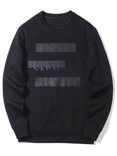 London Graphic Crew Neck Sweatshirt - Black L