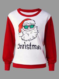 Weihnachten Plus Size Santa Claus Ringer Sweatshirt - Rot 5xl