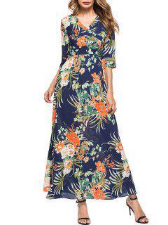 Robe Maxi Imprimé Floral à Col En V - Xl