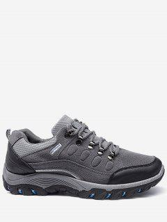 Lace Up Color Block Sneakers - Gray 44