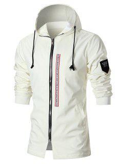Manteau à Capuche à Empiècement D'insecte Et Imprimé De Tete De Tigre  - Blanc Xl