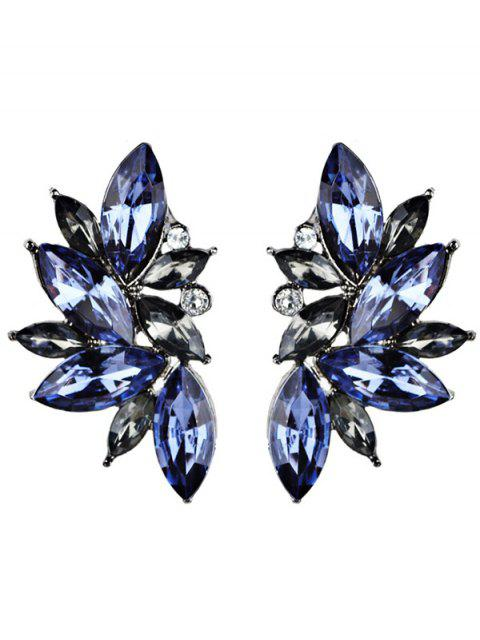 shops Rhinestone Faux Crystal Statement Earrings - BLUE  Mobile