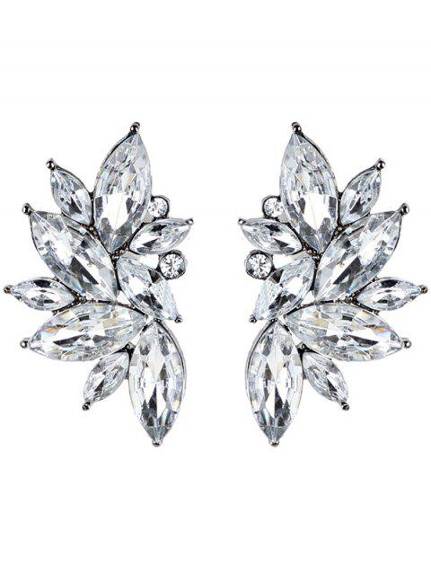 latest Rhinestone Faux Crystal Statement Earrings - WHITE  Mobile