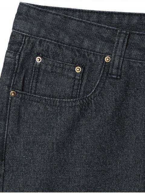 Knopfverschluss Tube Jeans - Schwarz XL Mobile