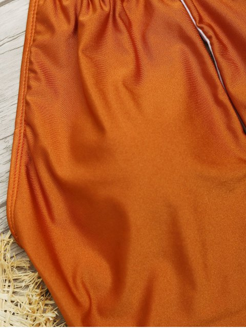 Traje de baño Escote alto con cuello alto - Marrón S Mobile