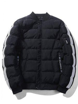 Striped Sleeve Quilted Jacket