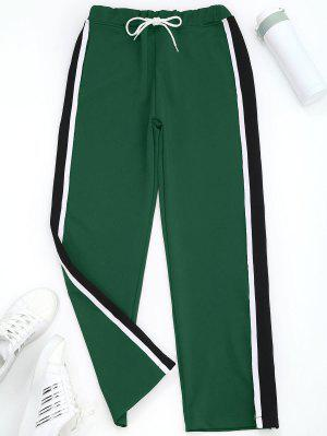 Slit Wide Leg Striped Sporty Pants