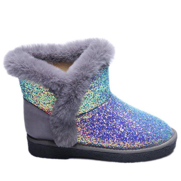 Glitter Low Heel Snow Boots 232623507