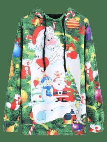 Del De Cord Con 243;n Del 2xl Navidad 225;rbol Capucha Verde Del Caramelo Sudadera SaqYTx