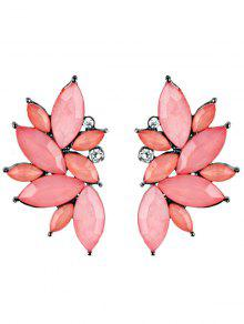 Pendientes De Imitación De Cristal De Imitación De Diamantes De Imitación - Rosa