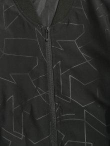 Negro Estampado Chaqueta Bombardero 3xl De Abstracto q8SU7wS