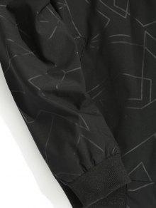 Estampado Bombardero 3xl Chaqueta Negro De Abstracto HvTFwE