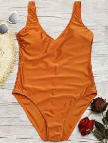 لامعة قطعة واحدة ملابس السباحة - L