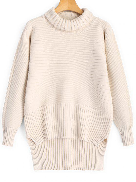 Turtleneck High Low Pullover Sweater LIGHT APRICOT: Sweaters ONE ...