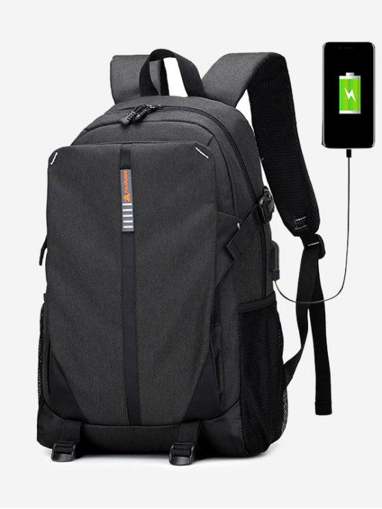 new USB Charging Port Backpack - BLACK