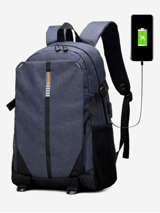 hot USB Charging Port Backpack - BLUE