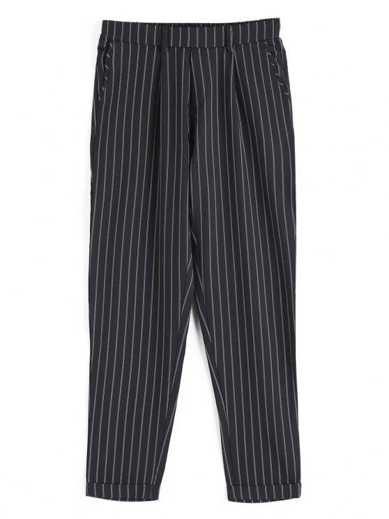 shop High Waisted Stripes Harem Pants - STRIPE S