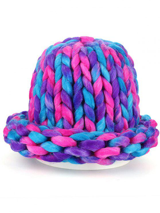 Soft Round Top Thicken Crochet Knitted Beanie - COLORIDO