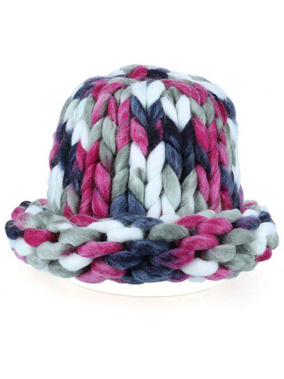 Soft Round Top Thicken Crochet Knitted Beanie - Tutti Frutti