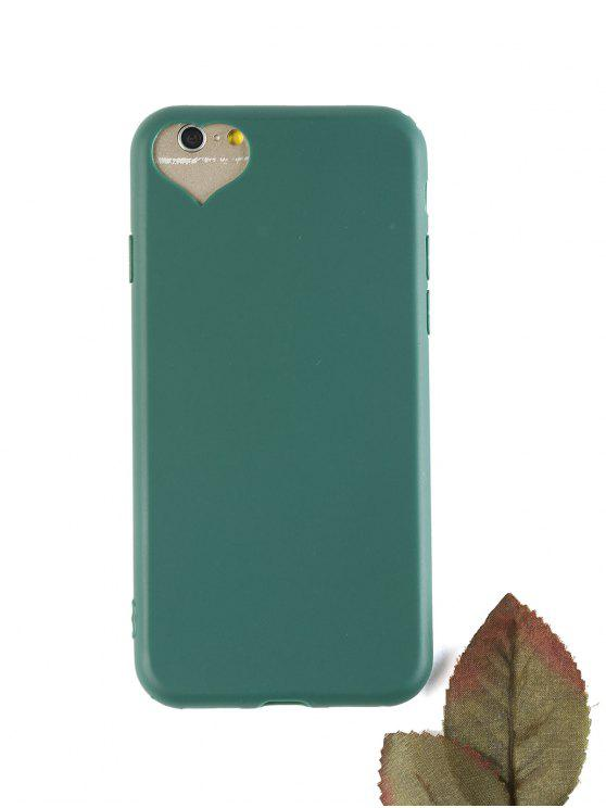 womens Heart DIY Phone Case For Iphone - BLACKISH GREEN FOR IPHONE 6 / 6S