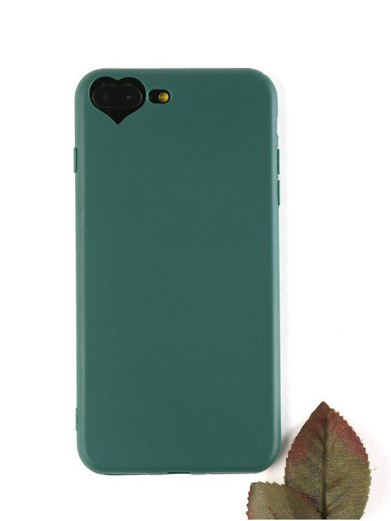 ladies Heart DIY Phone Case For Iphone - BLACKISH GREEN FOR IPHONE 7 PLUS/8 PLUS