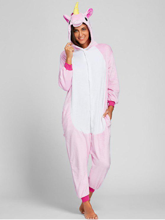 womens Pegasus Animal Onesie Pajama for Adult - LIGHT PINK XL