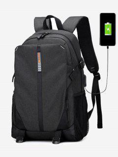 USB Charging Port Backpack - Black