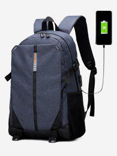 USB Charging Port Backpack - Blue