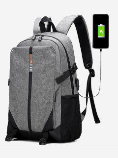 USB Charging Port Backpack - Gray