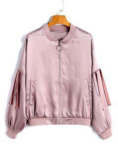 Kurze Zip-Up-Jacke - Pink Xl