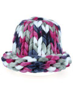 Soft Round Top Thicken Crochet Knitted Beanie - Tutti Frutti