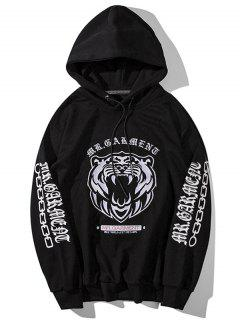 Pullover Embroidered Hoodie - Black Xl
