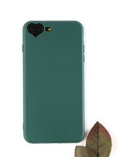Heart DIY Phone Case For Iphone - Blackish Green For Iphone 7 Plus/8 Plus