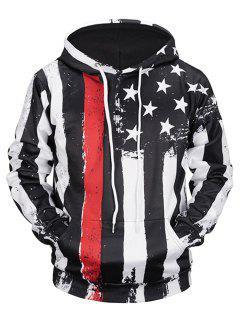 Känguru-Tasche Distressed American Flag Hoodie - Xl